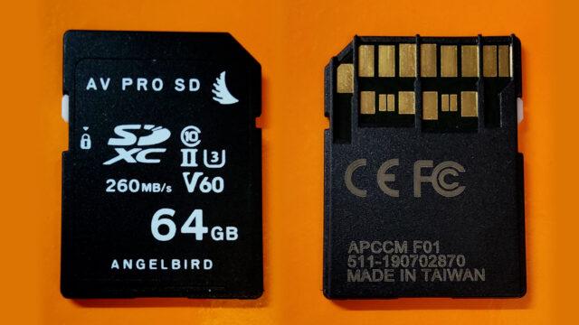 Angelbird's damaged SD card
