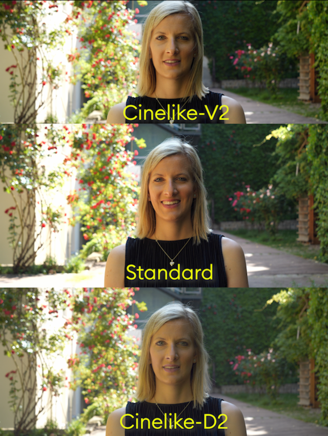Cinelike-V2 and Cinelike-D2 picture profiles