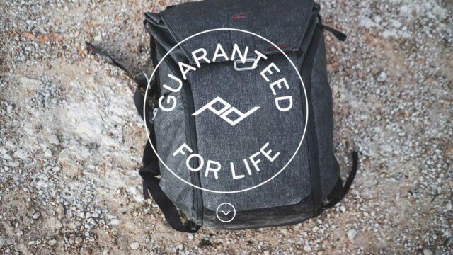 Peak Design bags - guaranteed for life
