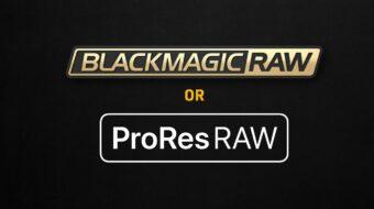 Blackmagic RAWとProRes RAWを比較する