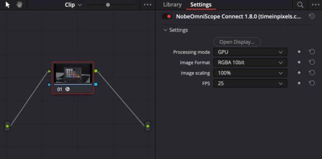 OmniScope's Resolve Connection Plugin