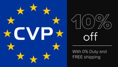 CVP - 10% de descuento en todos los productos para los clientes de la Unión Europea hasta finales de julio