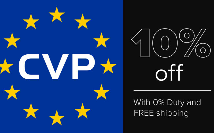CVP Offers -10% Off Everything for EU Customers Until End of July!