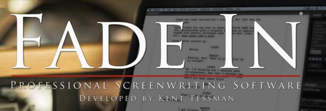 Fade In screenwriting software.