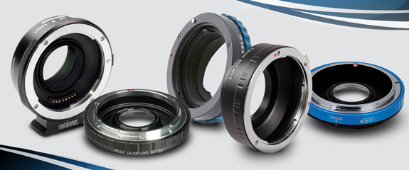 Series of lens adapters instead of lens mount conversion.
