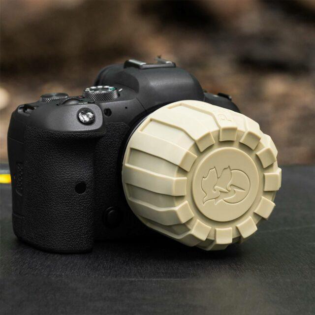Pelican Lens Cover on Canon Camera