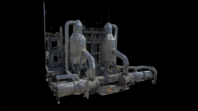 Photogrammetry Scan of Semi-Conductor Facility by Skydio 2. Image Credit: Skydio