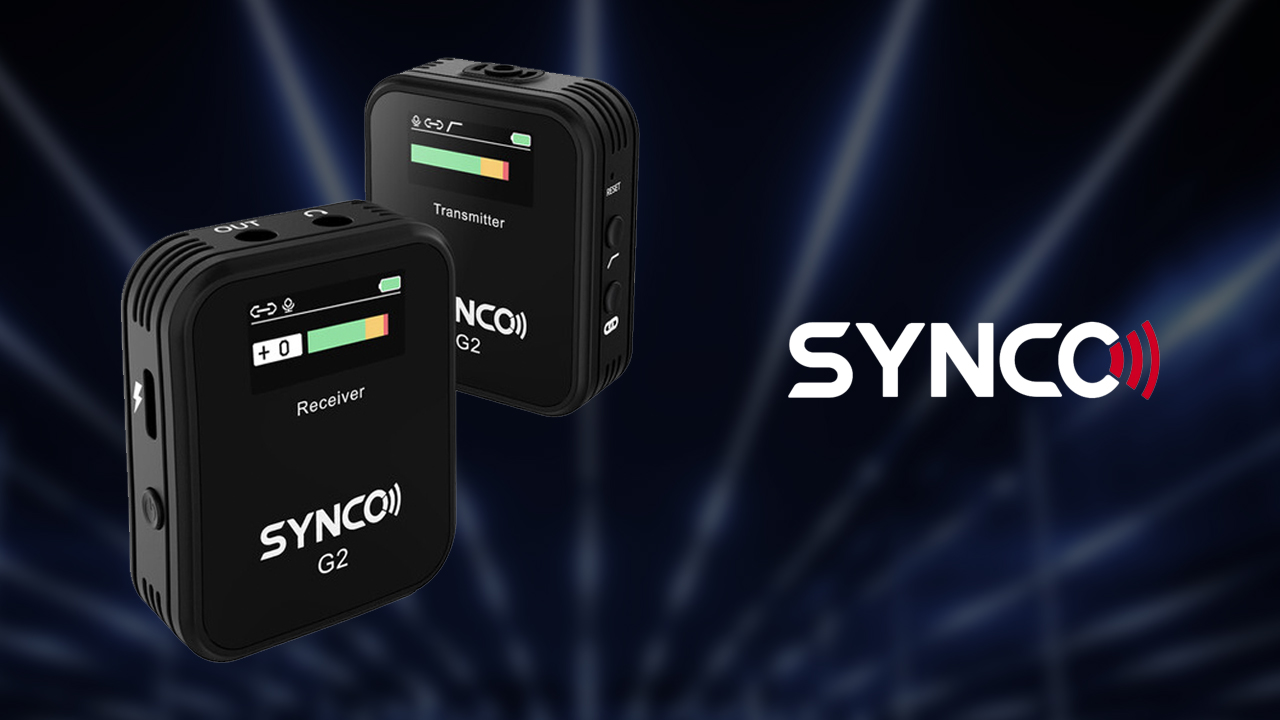 Synco G2 – Budget Wireless Lavalier Microphone System with Integrated Display