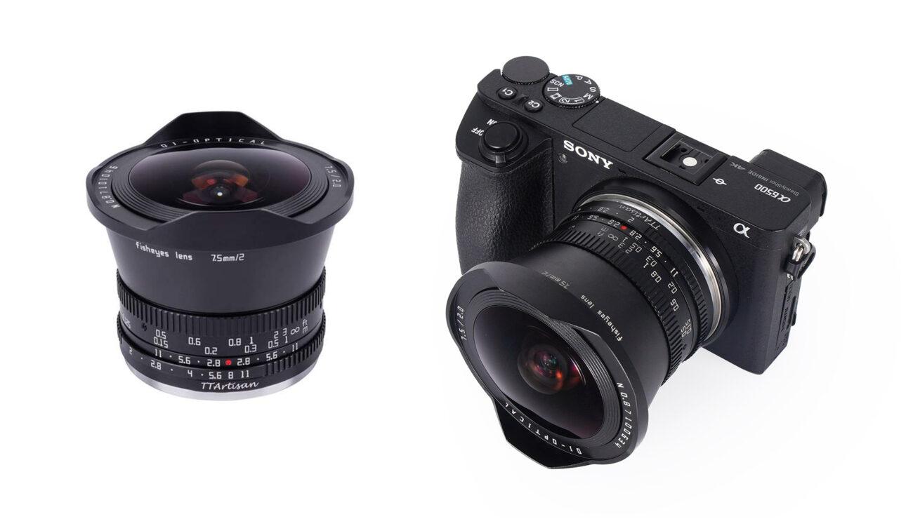 TTArtisanが7.5mm F/2.0を発売 - 150ドルのAPS-C魚眼レンズ