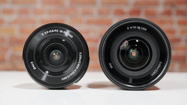 For Sony ZV-E10. Two suggested lens variations. Kit and wider