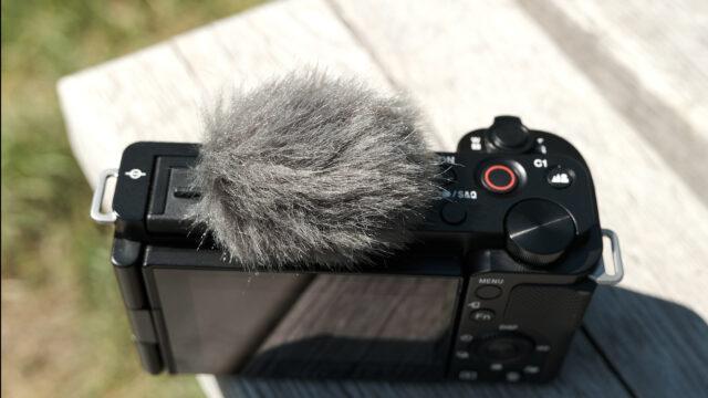 ZV-E10 Audio - The supplied windshield accessory