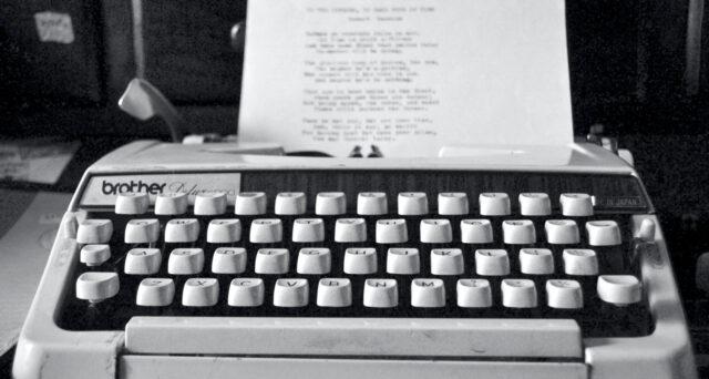 Typewriter Screenwriting