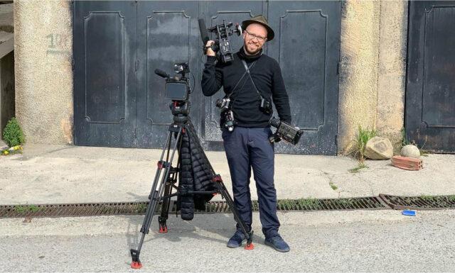 Juan Sarmiento G. on set. (Cannes 2021 nominee)