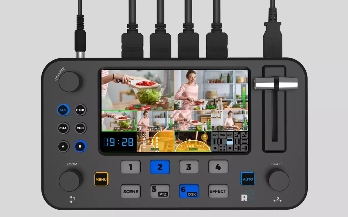 SPROLINK NeoLIVE R2 - Portable Video Switcher with Built-in Display