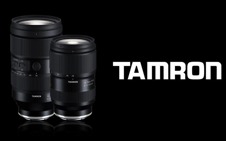 TAMRON 35-150 f/2-2.8 Di III VXD and 28-75 f/2.8 Di III VXD G2 Announced
