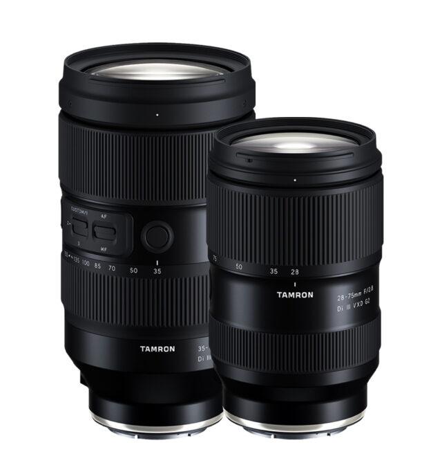 TAMRON 35-150 f/2-2.8 Di III VXD and 28-75 f/2.8 Di III VXD G2