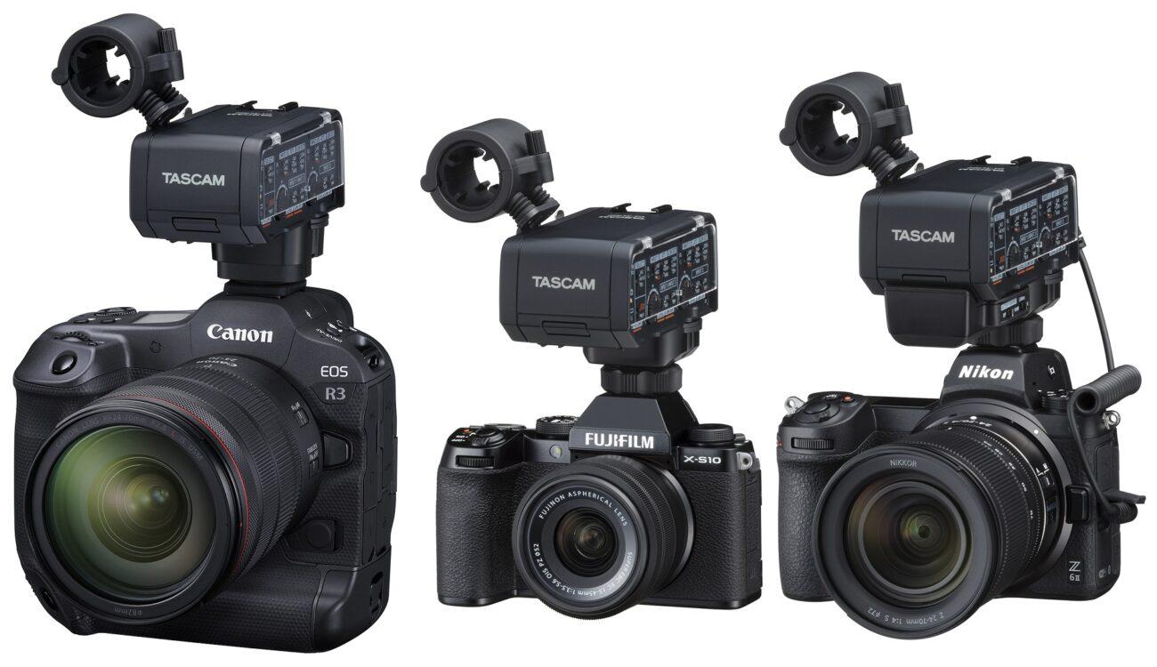 Anuncian el desarrollo del TASCAM CA-XLR2d - Adaptador XLR de audio para Canon, FUJIFILM y Nikon