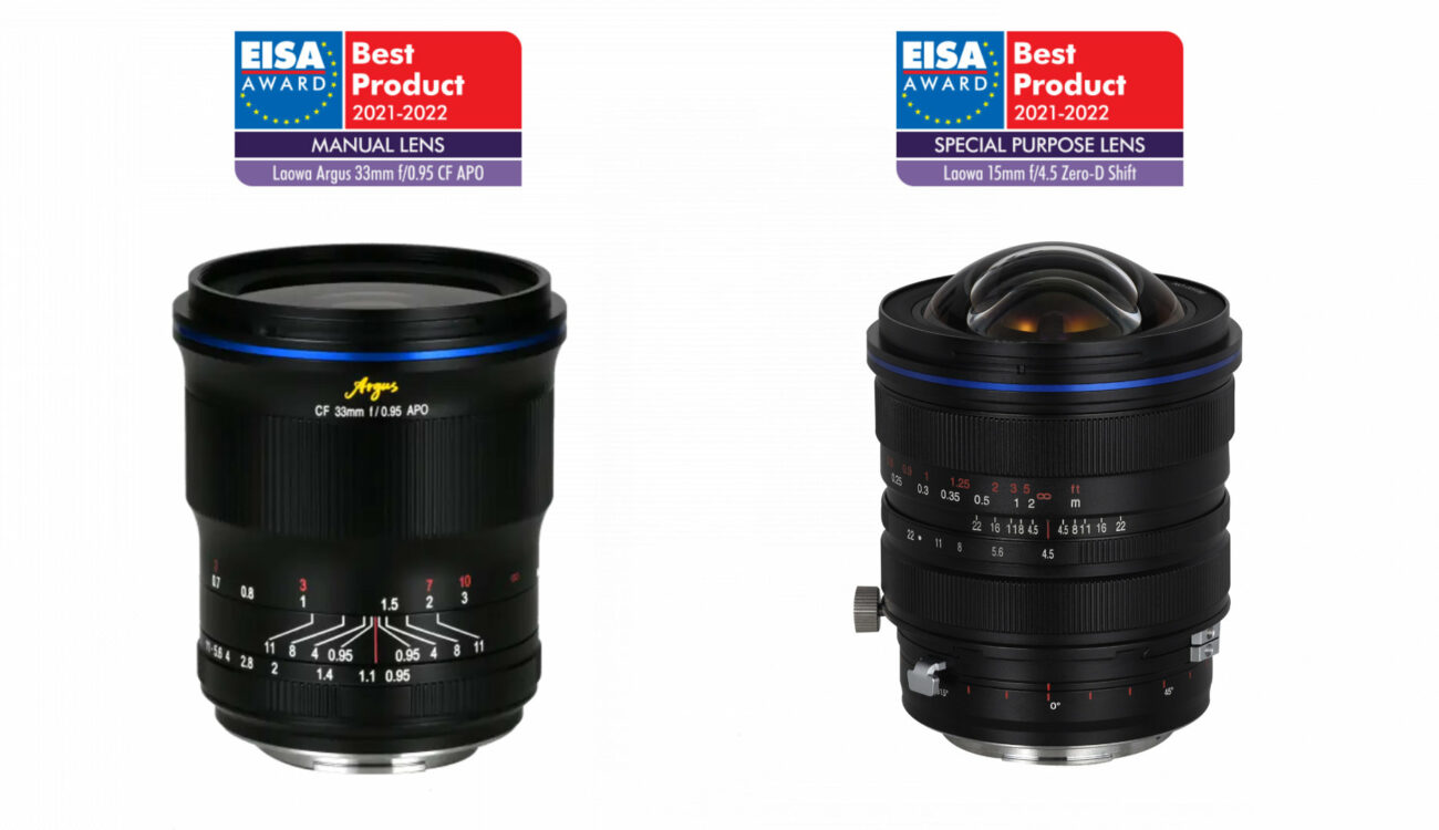 Laowa Receives Two EISA Awards for its Argus 33mm and 15mm Zero-D Shift Lenses