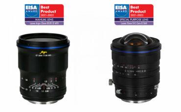 LaowaのArgus 33mmと15mmのZero-D Shiftレンズが2つのEISA賞を受賞