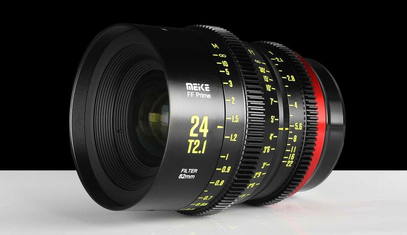Anuncian el lente full-frame de cine Meike 24mm T2.1