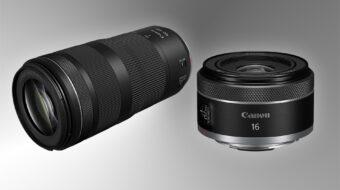 Anuncian los lentes Canon RF 16mm F/2.8 STM y RF 100-400mm F/5.6-8 IS USM