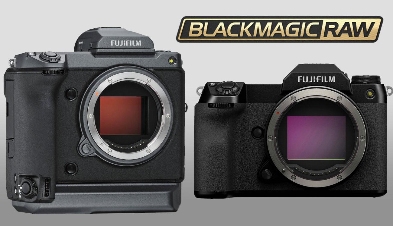 FUJIFILM GFX 100 and 100S get Blackmagic RAW Output
