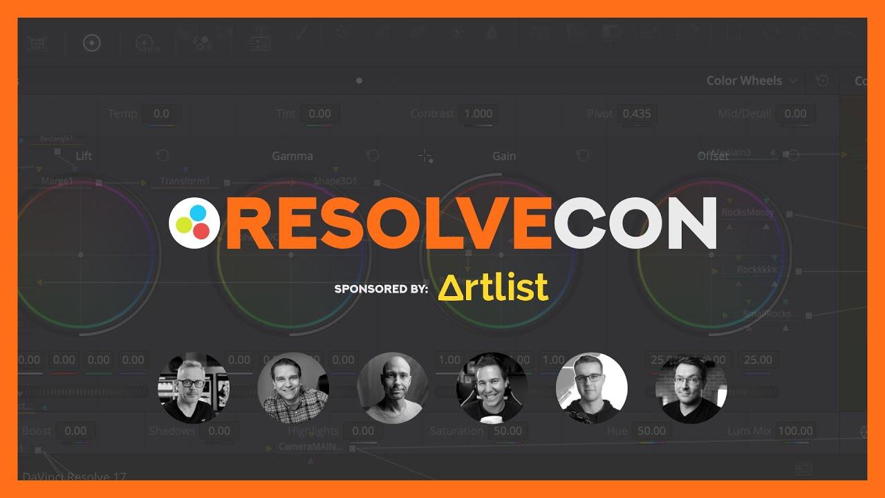 RESOLVECON 2021 - DaVinci Resolveの教育ライブストリームを無料配信