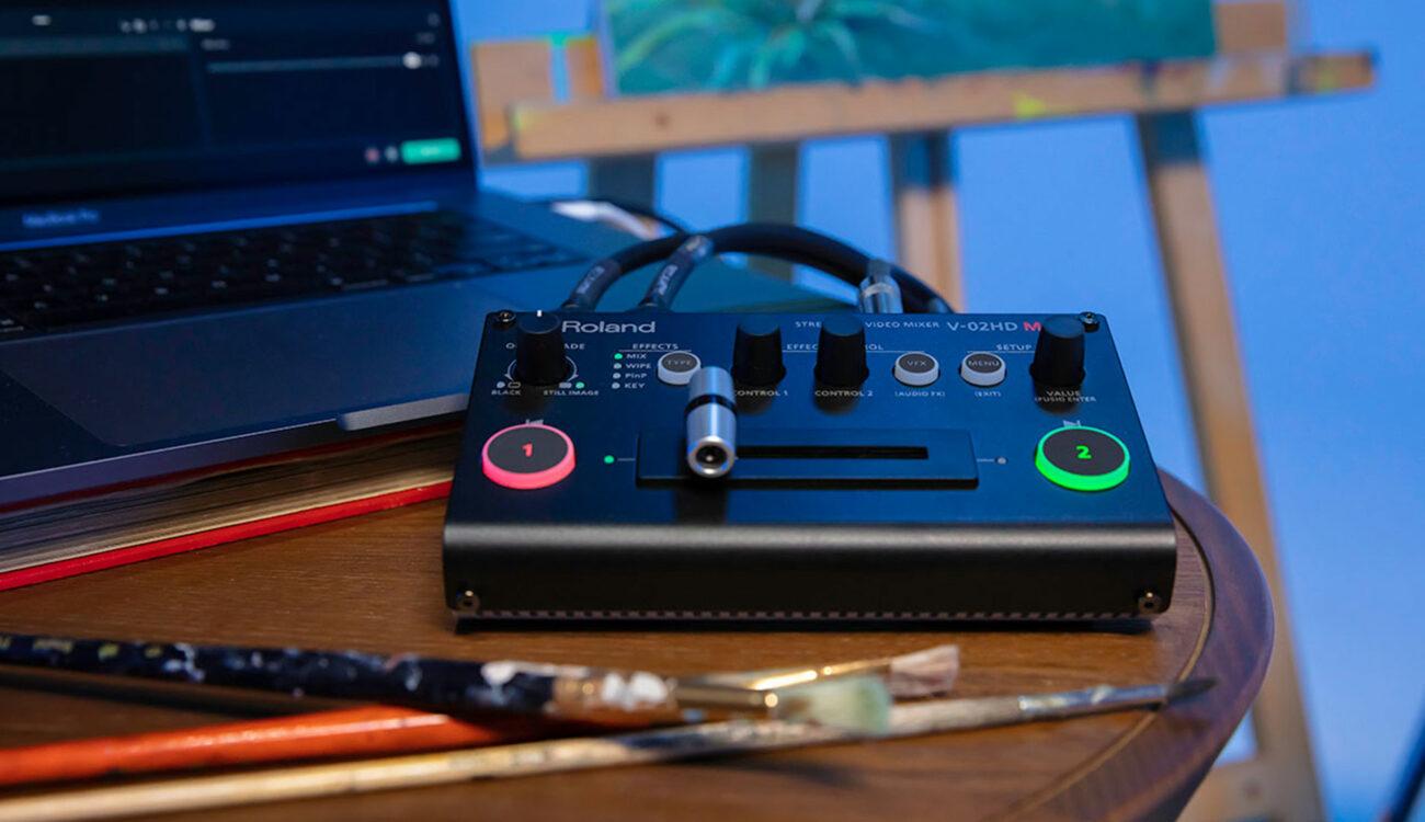 ローランドがストリーミング・ビデオ・ミキサー「V-02HD MK II」を発表
