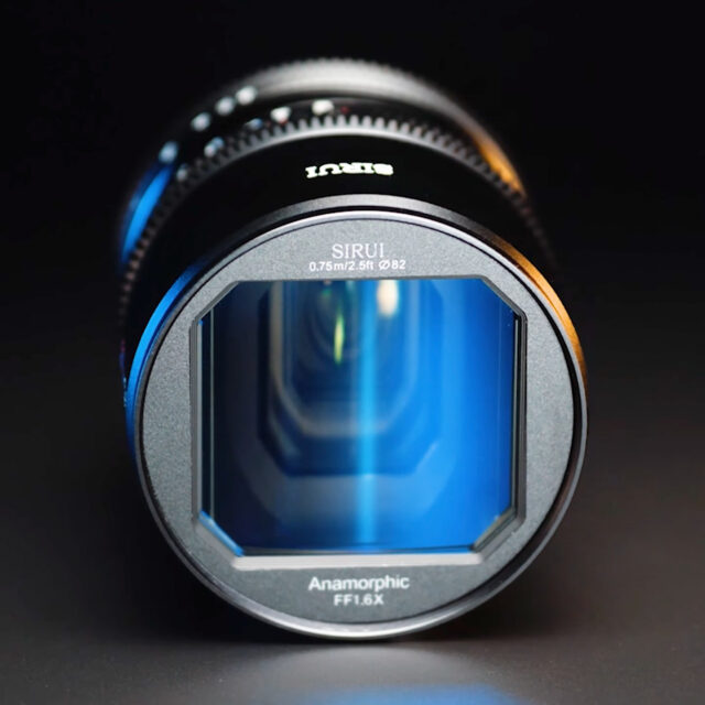 SIRUI 50mm T2.9 1.6x Full-Frame Anamorphic Lens front view