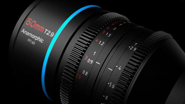 SIRUI 50mm T2.9 1.6x Full-Frame Anamorphic Lens geared rings