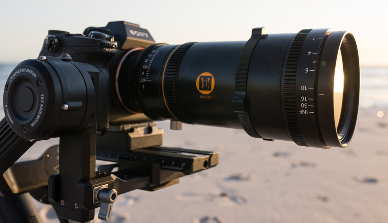 Great Joy Announce 60mm T2.9 FF 1.33x Anamorphic Lens, plus 1.35x Anamorphic adapter