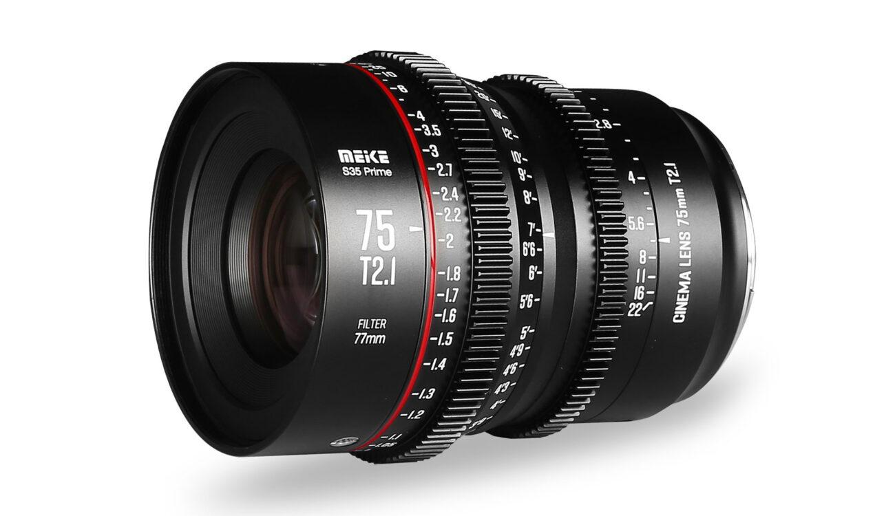 Meike 75mm T2.1 Released – S35 Cinema Prime Lens for EF and PL-Mount