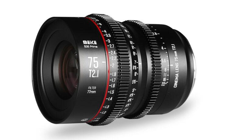 Lanzan el Meike 75mm T2.1 – Nuevo lente S35 prime de cine para monturas EF y PL