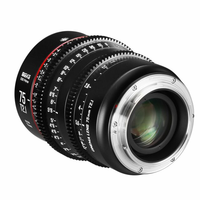 Meike 75mm T2.1 S35 back view