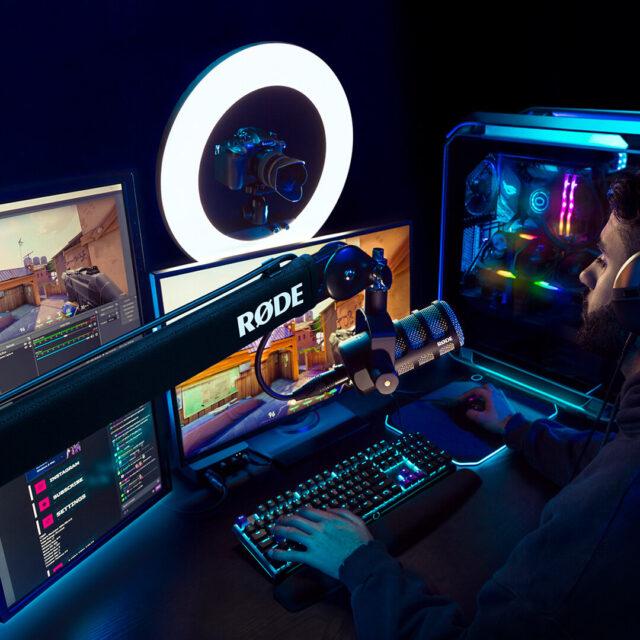 RØDE PSA1+ in a gaming setup