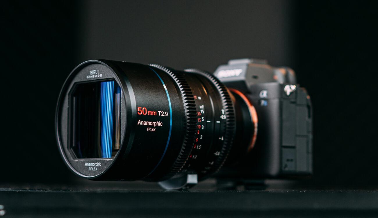 SIRUIが50mm T2.9 1.6x フルフレームアナモフィックレンズをIndiegogoに登録