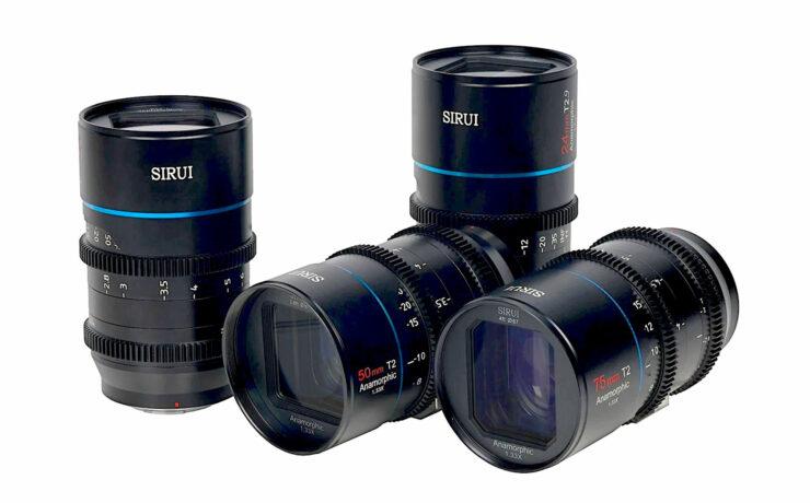 Los lentes anamórficos SIRUI Mars 1.33x ahora están disponibles en monturas Canon RF/L/FZ a través de MTF Services